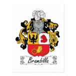 Escudo de la familia de Brambilla Postal