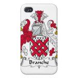 Escudo de la familia de Branche iPhone 4 Cárcasas