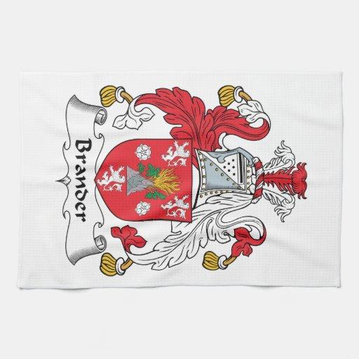 Escudo de la familia de Brander Toallas De Mano