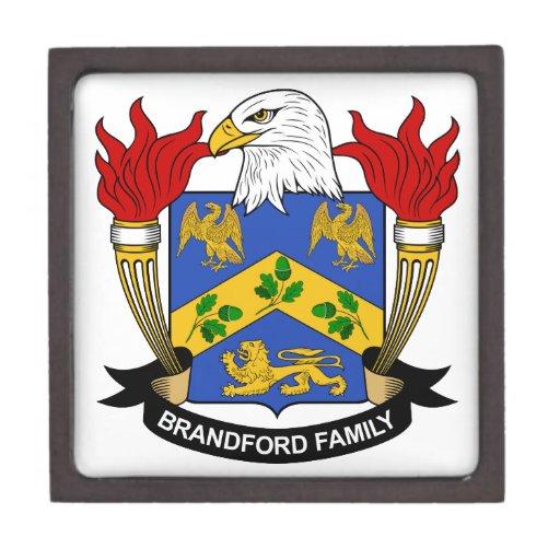 Escudo de la familia de Brandford Cajas De Recuerdo De Calidad