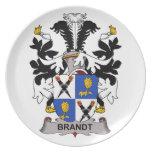 Escudo de la familia de Brandt Platos