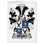 Escudo de la familia de Brandt Tarjeton