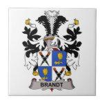 Escudo de la familia de Brandt Teja Cerámica