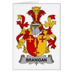 Escudo de la familia de Branigan Tarjeta