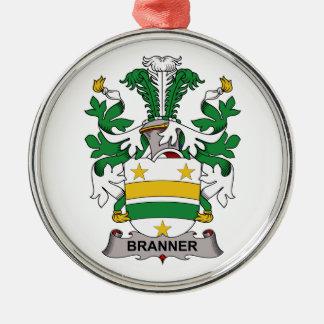 Escudo de la familia de Branner Adorno Navideño Redondo De Metal