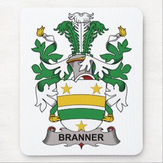 Escudo de la familia de Branner Alfombrillas De Ratón