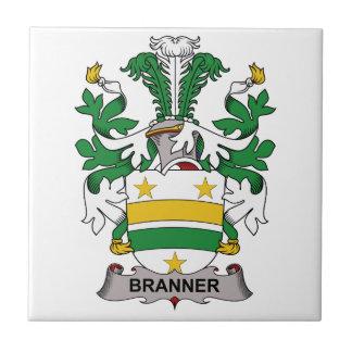 Escudo de la familia de Branner Azulejo Cuadrado Pequeño