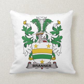 Escudo de la familia de Branner Cojines