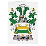Escudo de la familia de Branner Felicitaciones