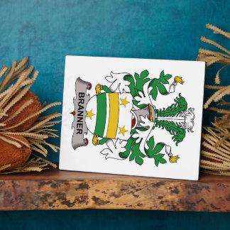 Escudo de la familia de Branner Placas Con Fotos