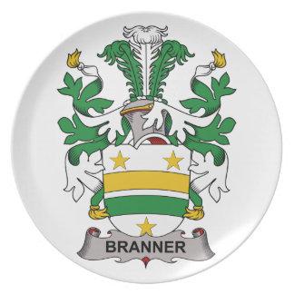 Escudo de la familia de Branner Platos De Comidas