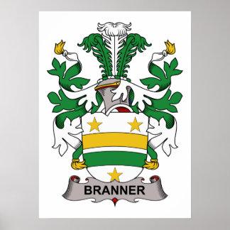 Escudo de la familia de Branner Póster
