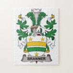 Escudo de la familia de Branner Rompecabeza Con Fotos