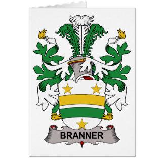 Escudo de la familia de Branner Tarjeta De Felicitación