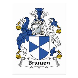 Escudo de la familia de Branson Tarjetas Postales