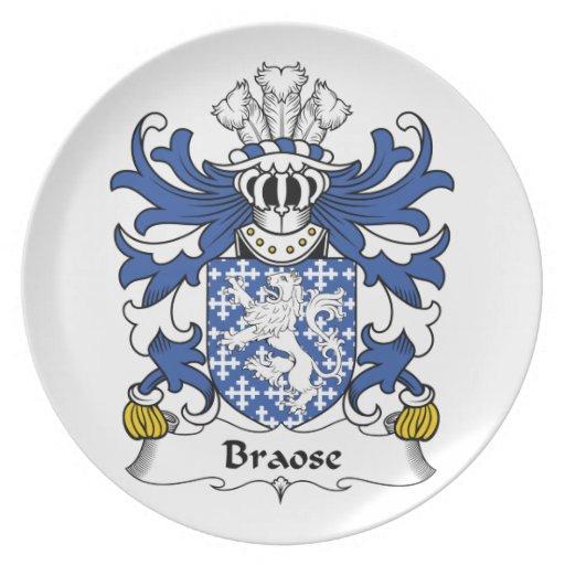 Escudo de la familia de Braose Platos