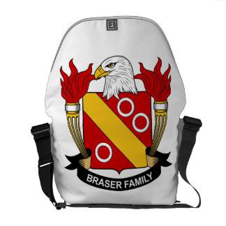Escudo de la familia de Braser Bolsa Messenger