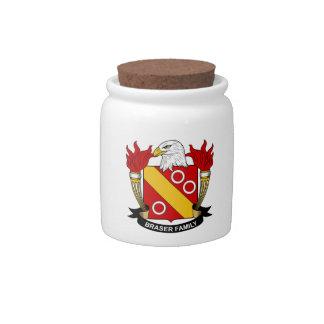 Escudo de la familia de Braser Platos Para Caramelos