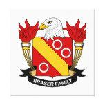 Escudo de la familia de Braser Impresiones En Lona Estiradas
