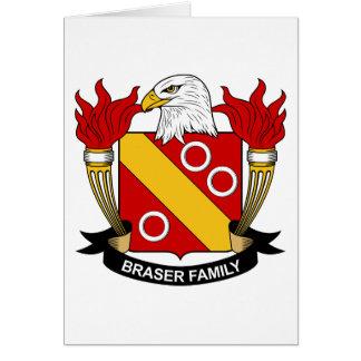 Escudo de la familia de Braser Tarjeta De Felicitación