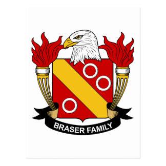 Escudo de la familia de Braser Tarjetas Postales
