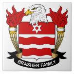Escudo de la familia de Brasher Azulejo Cerámica