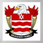 Escudo de la familia de Brasher Impresiones