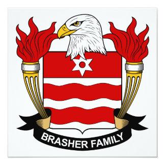 """Escudo de la familia de Brasher Invitación 5.25"""" X 5.25"""""""