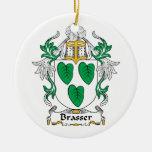 Escudo de la familia de Brasser Adorno De Navidad