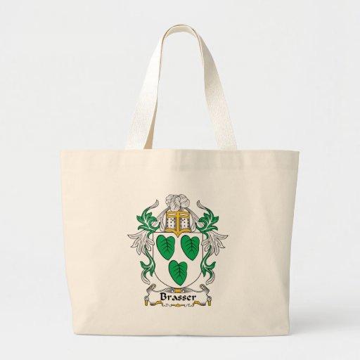 Escudo de la familia de Brasser Bolsa Tela Grande