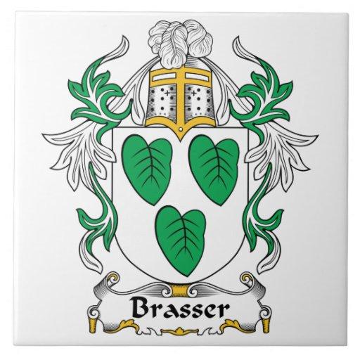 Escudo de la familia de Brasser Tejas Ceramicas