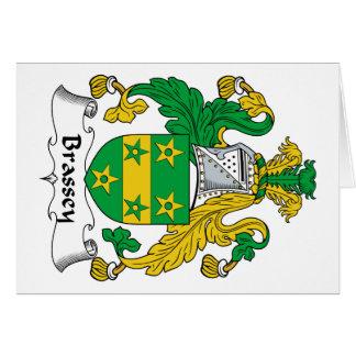 Escudo de la familia de Brassey Tarjeta De Felicitación