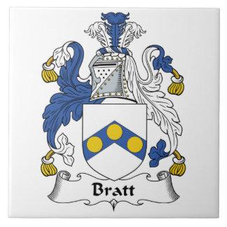 Escudo de la familia de Bratt Azulejos Ceramicos