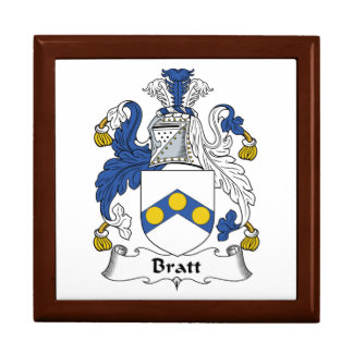 Escudo de la familia de Bratt Caja De Regalo