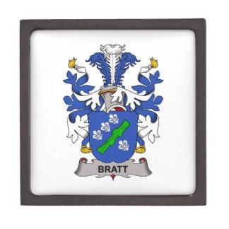 Escudo de la familia de Bratt Caja De Recuerdo De Calidad