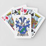 Escudo de la familia de Bratt Baraja Cartas De Poker