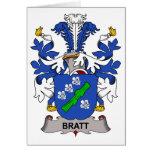 Escudo de la familia de Bratt Felicitacion