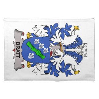Escudo de la familia de Bratt Manteles