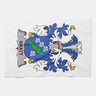 Escudo de la familia de Bratt Toalla De Mano