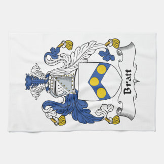 Escudo de la familia de Bratt Toallas De Mano