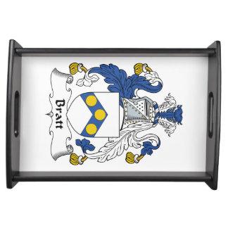 Escudo de la familia de Bratt Bandeja