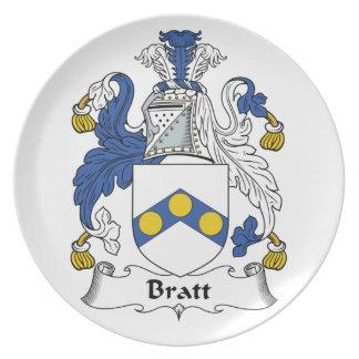 Escudo de la familia de Bratt Platos Para Fiestas