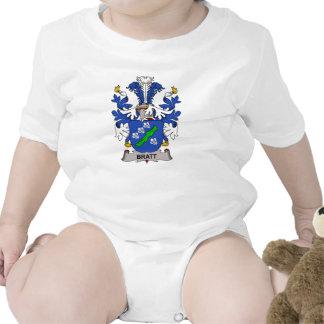 Escudo de la familia de Bratt Traje De Bebé