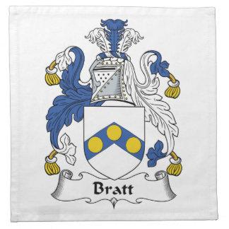 Escudo de la familia de Bratt Servilleta De Papel