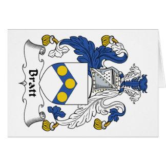Escudo de la familia de Bratt Tarjeton