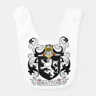Escudo de la familia de Bratton Baberos De Bebé