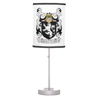Escudo de la familia de Bratton Lámpara De Mesilla De Noche