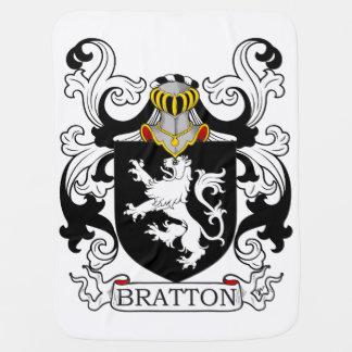 Escudo de la familia de Bratton Mantas De Bebé