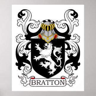 Escudo de la familia de Bratton Póster