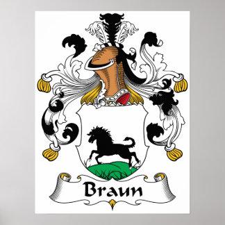 Escudo de la familia de Braun Impresiones